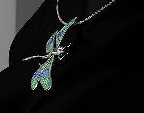 Pendant Dragonfly 3D print model