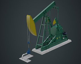 Oil Pumpjack 1A 3D model low-poly