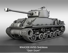 M4A3E8 - Sherman - Easy Eight 3D