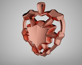 3D printable model Leaf Heart Necklace