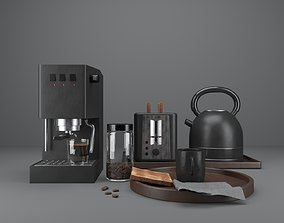 set of kitchen appliances 3D