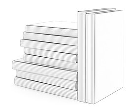 Books Set 3D model book