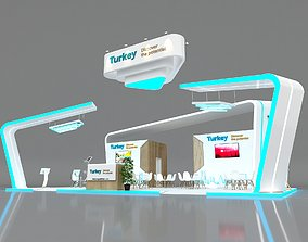 Exhibition Stand Stall 14x9m Height 520 cm 4 Side 3D