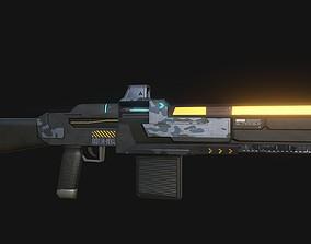 3D model H-NYA-SMG Sub Machine Gun Low Poly
