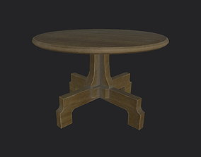 classic 3D asset VR / AR ready Round Table