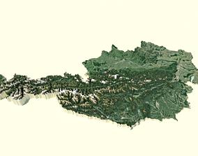 Austria Terrain digital model landscape 3D