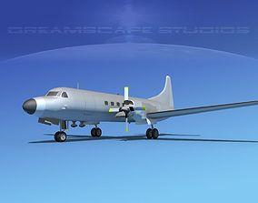 Convair CV-580 Bare Metal 3D model