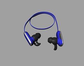 3D print model Bule-black Bluetooth headset