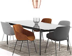 Boconcept - Vienna Chair Augusta Table 3D model