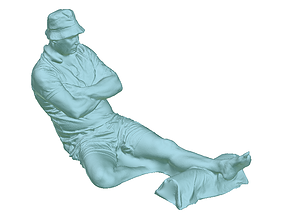 Man on massage table 3D print model