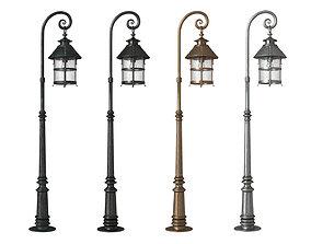retro Antique lamp post 3D model