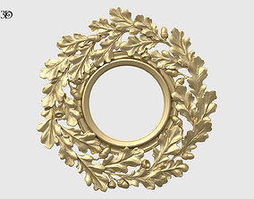 Round Frame With Oak Leaves 3D printable model