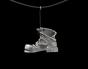 Pendant old shoe silver street collection 3D print model