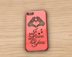 3D CARCASA IPHONE 7-8 I LOVE YOU