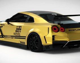 3D asset Nissan R35 GTR Top Secret
