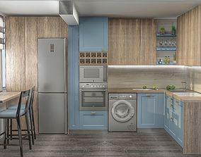 3D Transitional Kitchen