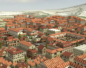 3D model game-ready Ancient Town