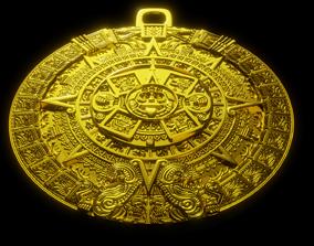Aztec sun calendar Piedra del Sol 3D printable model