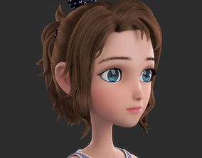 Cartoon Girl 3D model child