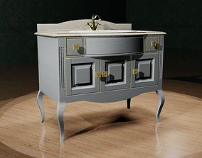 3D print model chest of drawers with a sink