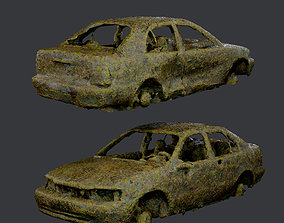 3D model Apocalyptic Damaged Destroyed Vehicle Car Game 1