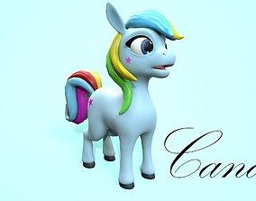 3D model cartoon pony candy