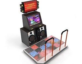 3D model Dance Game Machine