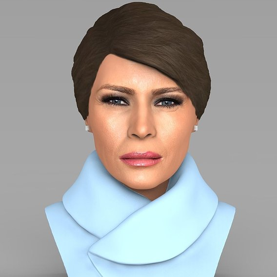 Melania Trump bust for full color 3D printing