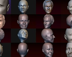 3D Male and female heads collection - 22 heads