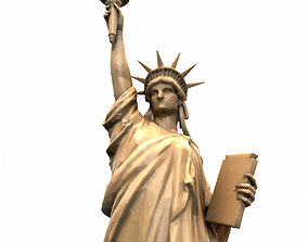 3D model VR / AR ready Statue Of The Liberty