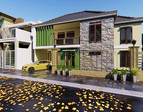 3D printable model 2 Floor Home Design