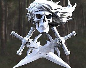 dagger skull 3d model