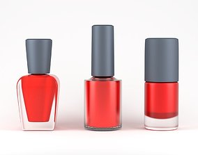 Nail Polish Bottle Model Pack 3D