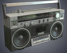 Radiocassette recorder retro VR / AR ready
