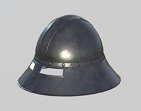 Medieval Kettle Helmet 02 3D asset