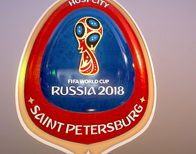 Saint-Petersburg Host City Russia 2018 Symbol 3D model
