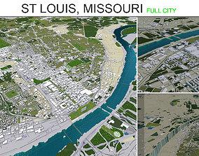 Saint Louis City in Missouri 50km 3D asset