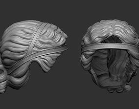 3D model stylized hair 2