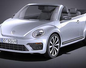 Volkswagen Beetle Convertible R-line 2015 VRAY 3D
