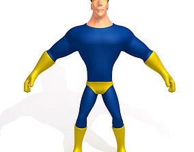 3D Superhero Cartoon 02