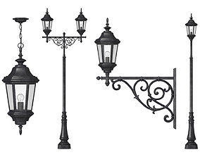 Outdoor Lamp Pack 3D