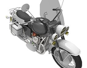 Motorcycle 3D asset game-ready