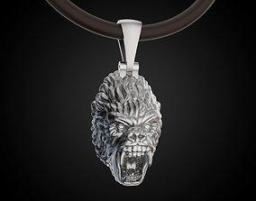 Gorilla pendant africa 3D print model