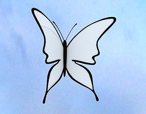 BUTTERFLY 3D model animated