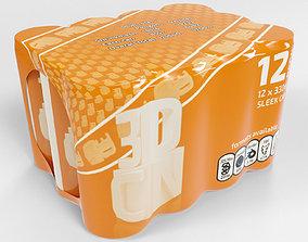 3D model 12 Shrinkwrapped 330ml Sleek beverage