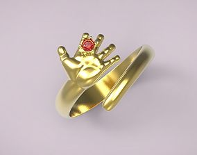 3D print model ring hand