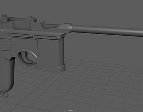 fbx 3D model Mauser c96