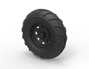 Diecast Front wheel from Mud dragster 3D print model