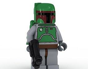 3D model LEGO Minfigure Boba Fett older human