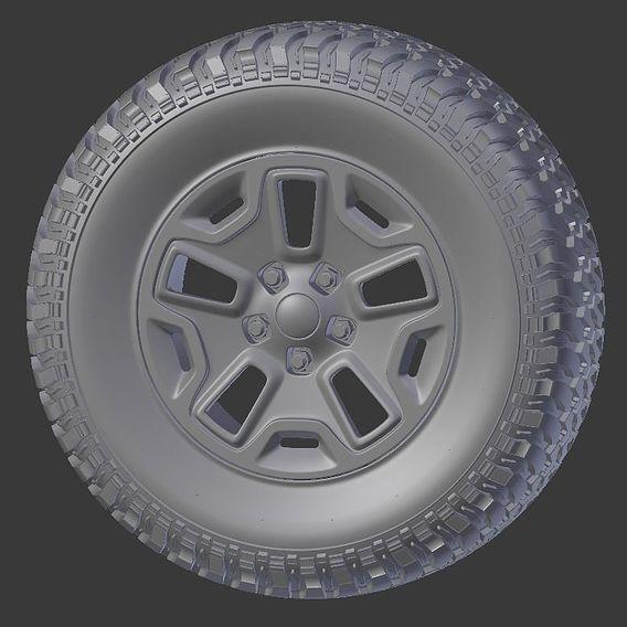 Jeep Tire 3D